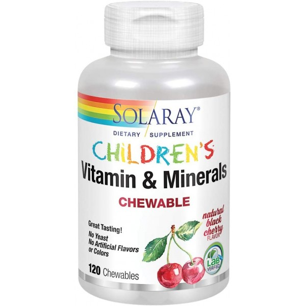 Childrens Chewable Vitamins and Minerals 120 Chewables (Black Cherry)