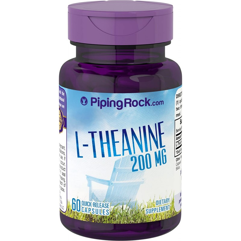 L-Theanine, 200 mg, 60 Quick Release Capsules