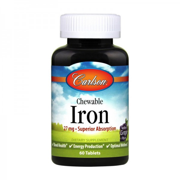 Chelated Iron 27 mg 60 Tablets