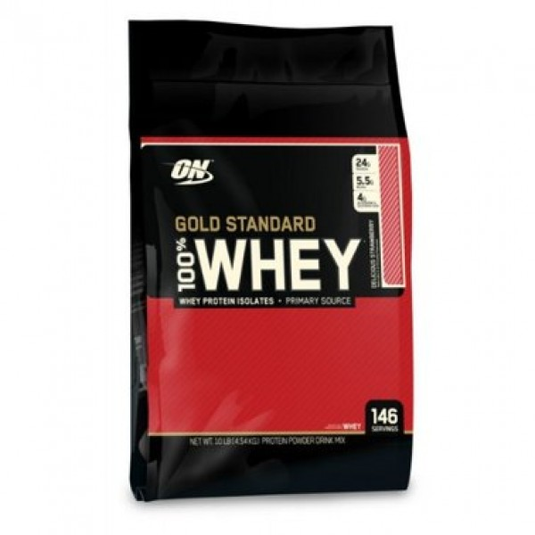 Gold Standard 100% Whey 4540g (Delicious Strawberry)